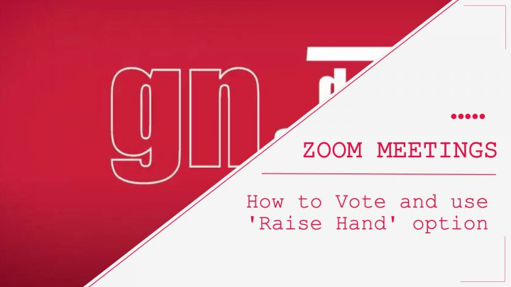 Zoom meetings.How to vote and use the 'Raise Hand' option?