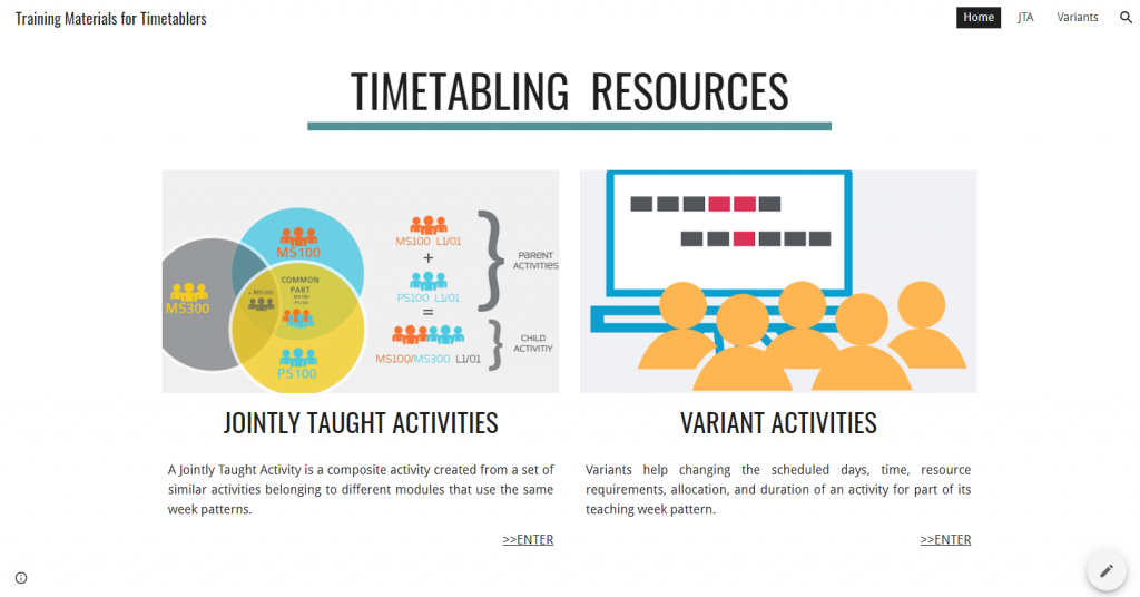 Training resources for DCU timetablers