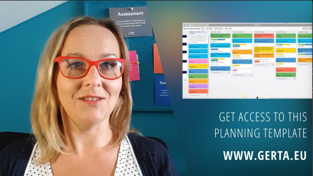 Image of Gerta eLearning designer introducing the course planning template