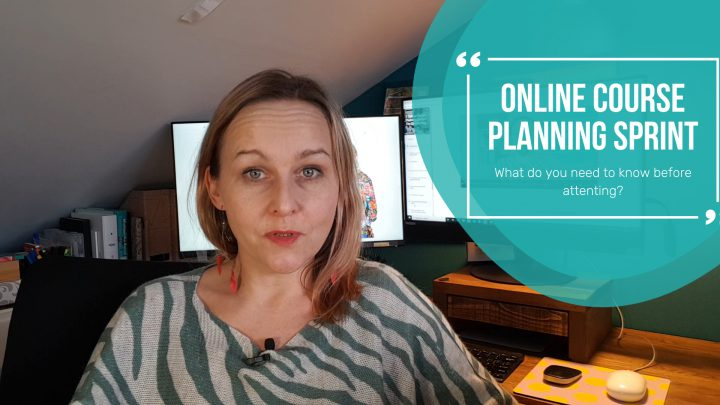 Planning online courses – learn about the online course planning sprint workshop!
