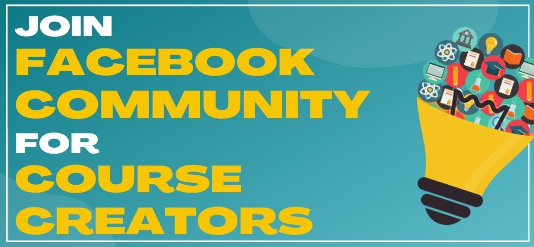 join facebook community for course creators